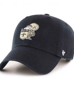 New Orleans Saints 47 Brand Classic Black Clean Up Adjustable Hat