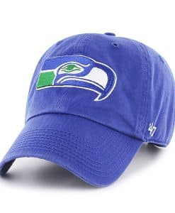 Seattle Seahawks Clean Up Royal 47 Brand Adjustable Hat