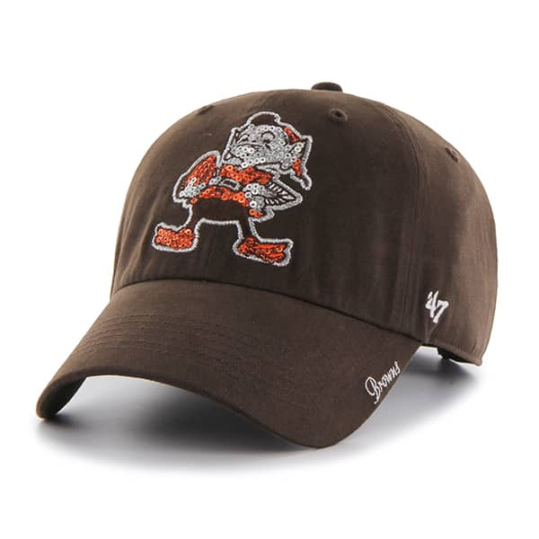 Cleveland Browns 47 Brand Women's Brown Sparkle Team Color Clean Up Hat