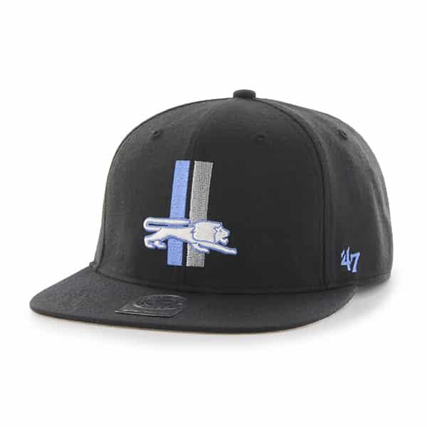 Detroit Lions 47 Brand Super Shot Classic Black Adjustable Hat
