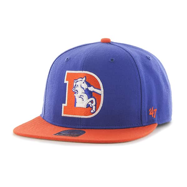 Denver Broncos Super Shot Two Tone Captain Royal 47 Brand Adjustable Hat
