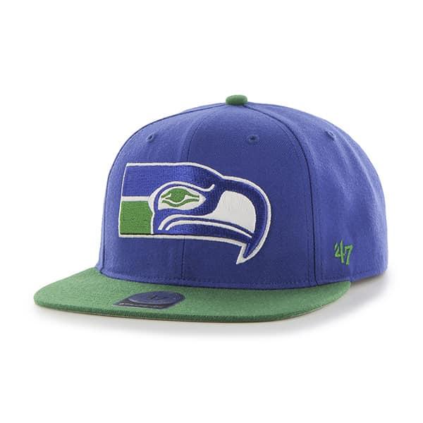 Seattle Seahawks Super Shot Two Tone Captain Royal 47 Brand Adjustable Hat