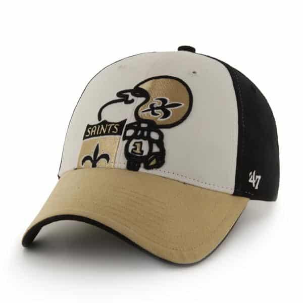New Orleans Saints Tri Color Creature Black 47 Brand YOUTH Hat