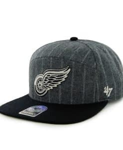 Detroit Red Wings Andreo Dark Gray 47 Brand Adjustable Hat