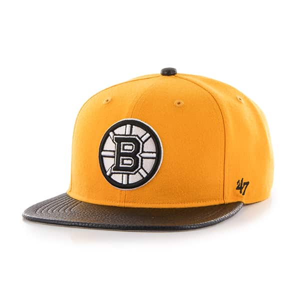 Boston Bruins Bump Out Captain Gold 47 Brand Adjustable Hat