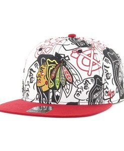 Chicago Blackhawks Bravado Captain White 47 Brand Adjustable Hat