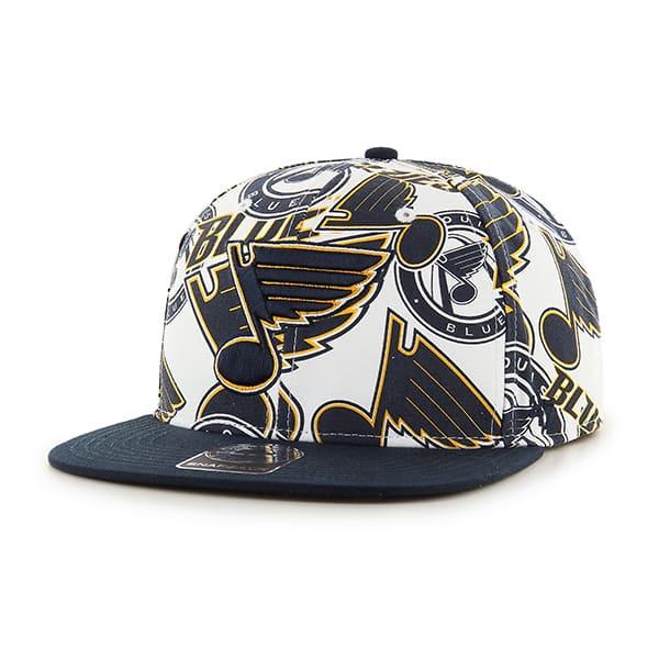 St Louis Blues Bravado Captain White 47 Brand Adjustable Hat