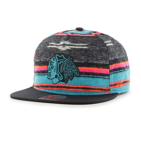 Chicago Blackhawks Chapparal Captain Dt Black 47 Brand Adjustable Hat