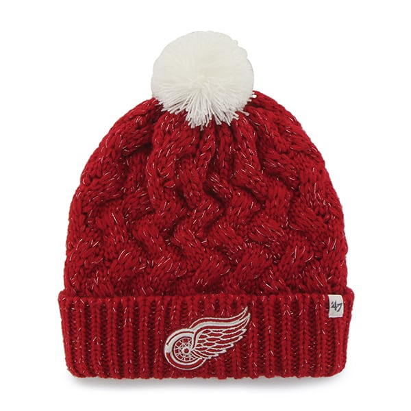 Detroit Red Wings Fiona Cuff Knit Red 47 Brand Womens Hat