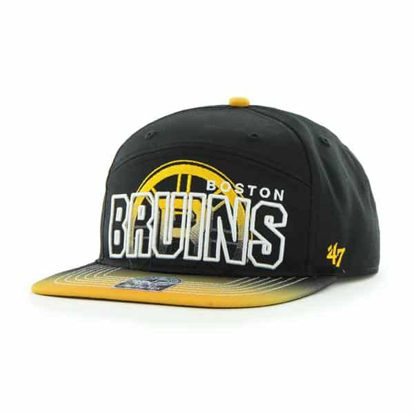 Boston Bruins Glowdown Black 47 Brand Adjustable Hat