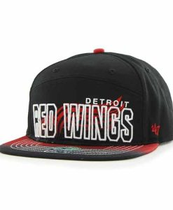 Detroit Red Wings Glowdown Black 47 Brand Adjustable Hat