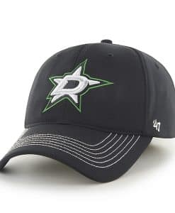 Dallas Stars Game Time Closer Black 47 Brand Stretch Fit Hat
