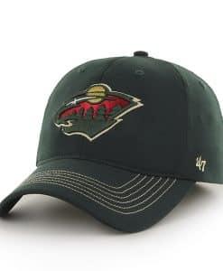 Minnesota Wild Game Time Closer Dark Green 47 Brand Stretch Fit Hat
