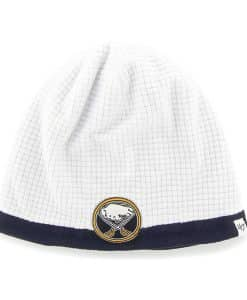 Buffalo Sabres Grid Fleece Beanie White 47 Brand YOUTH Hat