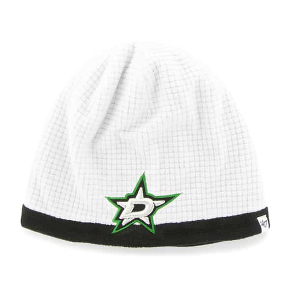 Dallas Stars Grid Fleece Beanie White 47 Brand YOUTH Hat