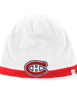 Montreal Canadiens Grid Fleece Beanie White 47 Brand YOUTH Hat