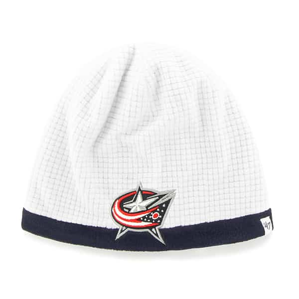 Colorado Avalanche Grid Fleece Beanie White 47 Brand YOUTH Hat