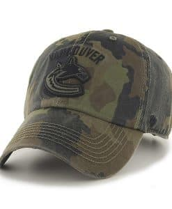 Vancouver Canucks Howitzer Clean Up Frontline Green Camo 47 Brand Adjustable Hat