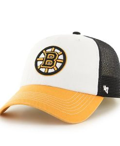 Boston Bruins Mckinley Closer Black 47 Brand Stretch Fit Hat