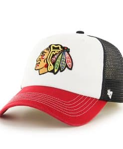 Chicago Blackhawks Mckinley Closer Black 47 Brand Stretch Fit Hat