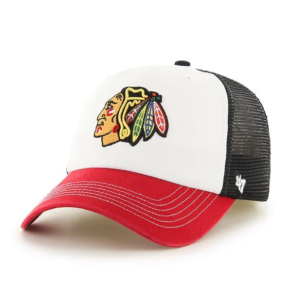 Chicago Blackhawks Mckinley Closer Black 47 Brand Stretch Fit Hat