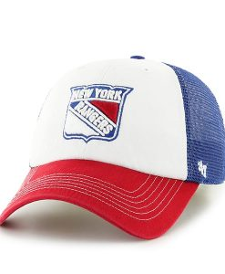 New York Rangers Mckinley Closer Royal 47 Brand Stretch Fit Hat