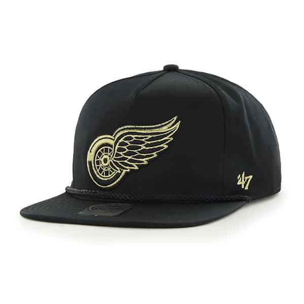 Detroit Red Wings Mine Shaft Black 47 Brand Adjustable Hat