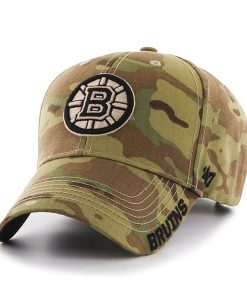 Boston Bruins Myers MVP Multicam 47 Brand Adjustable Hat