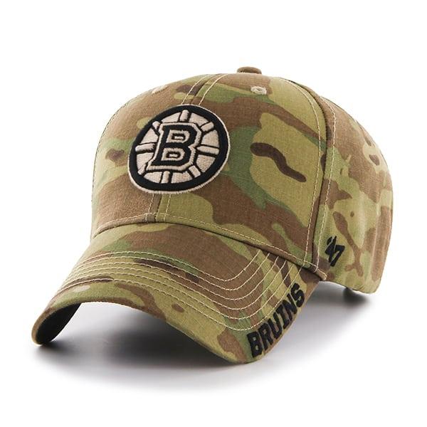 5e4759ae Boston Bruins Myers MVP Multicam 47 Brand Adjustable Hat