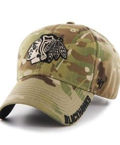 Chicago Blackhawks Myers MVP Multicam 47 Brand Adjustable Hat
