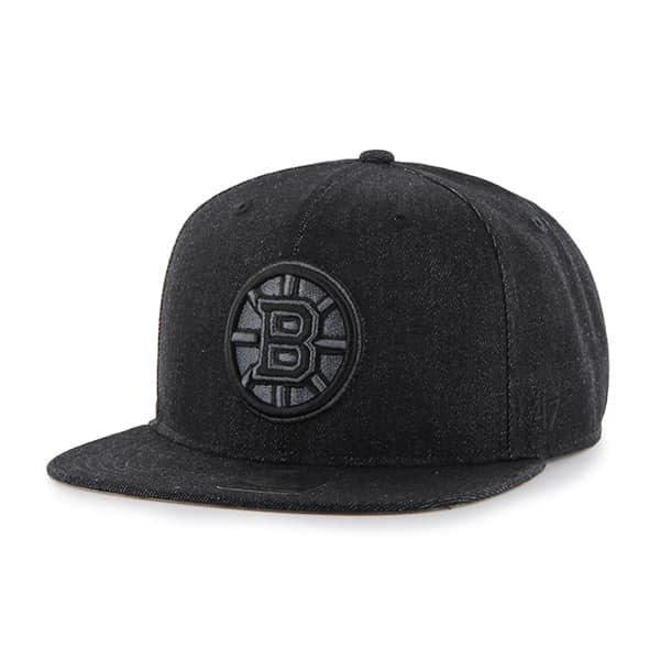 Boston Bruins Nero Captain Black 47 Brand Adjustable Hat