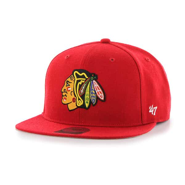 Chicago Blackhawks No Shot Captain Red 47 Brand YOUTH Hat