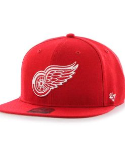 Detroit Red Wings No Shot Captain Red 47 Brand YOUTH Hat