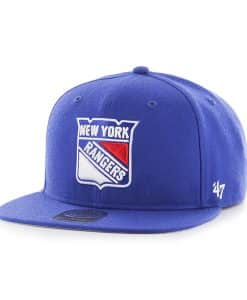 New York Rangers No Shot Captain Royal 47 Brand YOUTH Hat