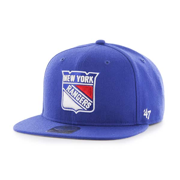 New York Rangers No Shot Captain Royal 47 Brand YOUTH Hat