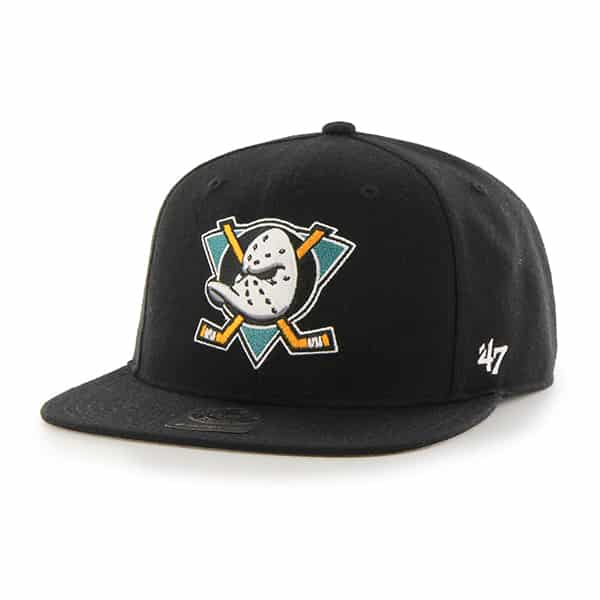 Anaheim Ducks No Shot Captain Black 47 Brand YOUTH Hat