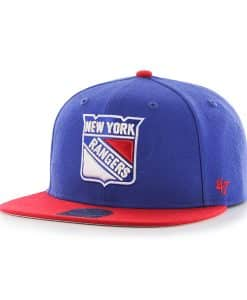 New York Rangers No Shot Two Tone Captain Royal 47 Brand YOUTH Hat