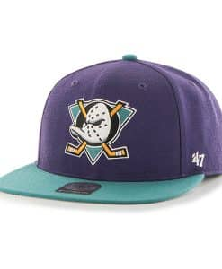 Anaheim Ducks No Shot Two Tone Captain Purple 47 Brand YOUTH Hat