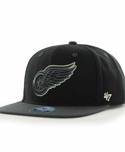 Detroit Red Wings Night Move Black 47 Brand Adjustable Hat
