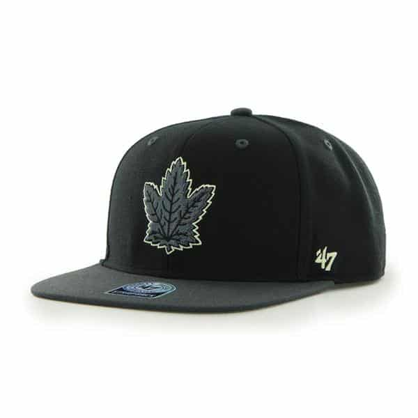 Toronto Maple Leafs Night Move Black 47 Brand Adjustable Hat