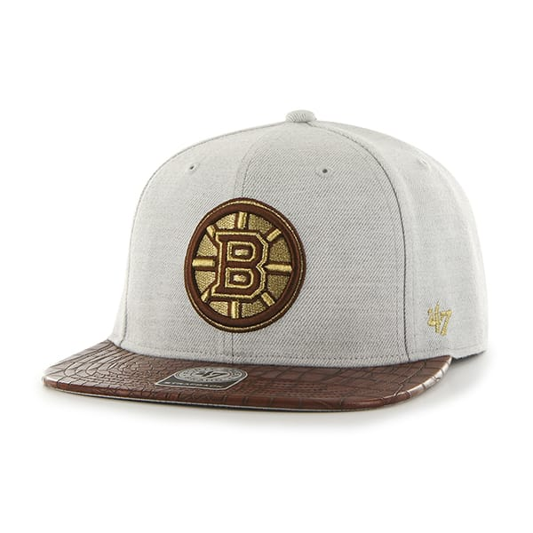 Boston Bruins Orinoco Captain Gray 47 Brand Adjustable Hat