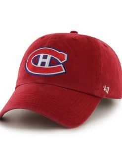 Montreal Canadiens Clean Up Red 47 Brand Adjustable Hat