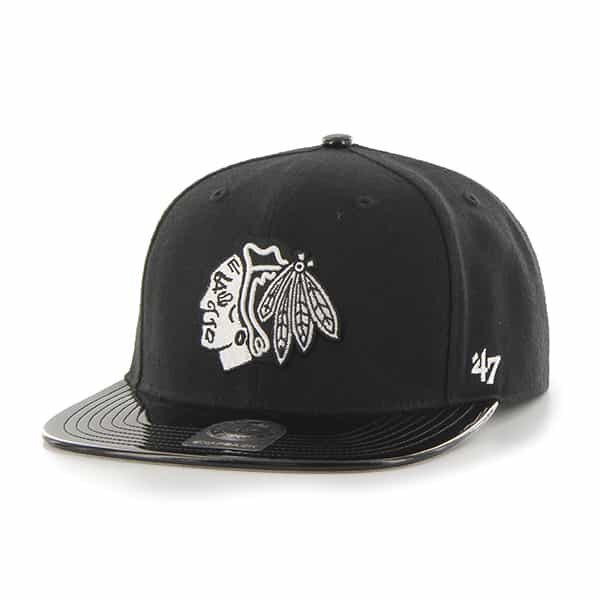 Chicago Blackhawks Shinedown Captain Black 47 Brand Adjustable Hat