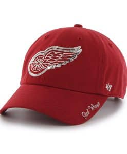 Detroit Red Wings Sparkle Team Color Clean Up Red 47 Brand Womens Hat
