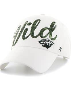 Minnesota Wild Sparkle Script Clean Up White 47 Brand Womens Hat