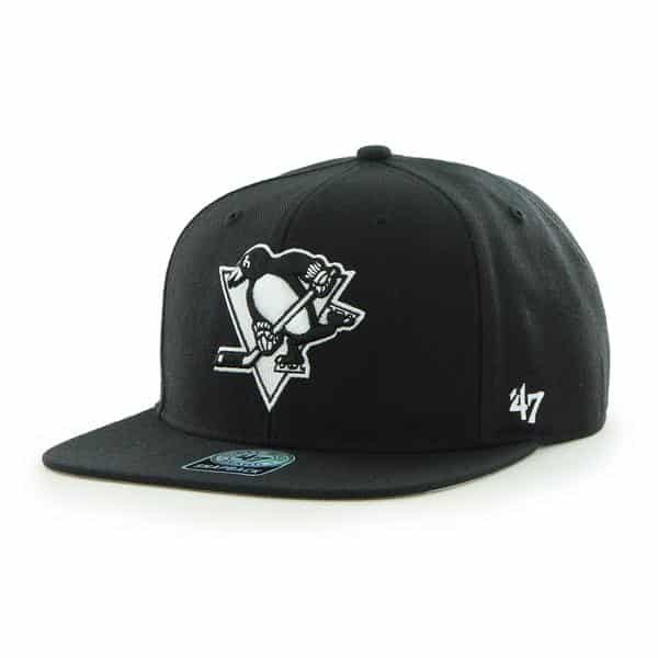 Pittsburgh Penguins Sure Shot Black 47 Brand Adjustable Hat