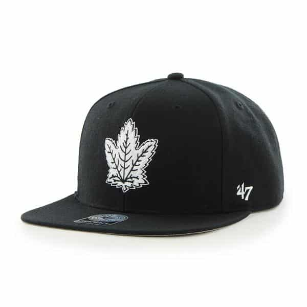 Toronto Maple Leafs Sure Shot Black 47 Brand Adjustable Hat