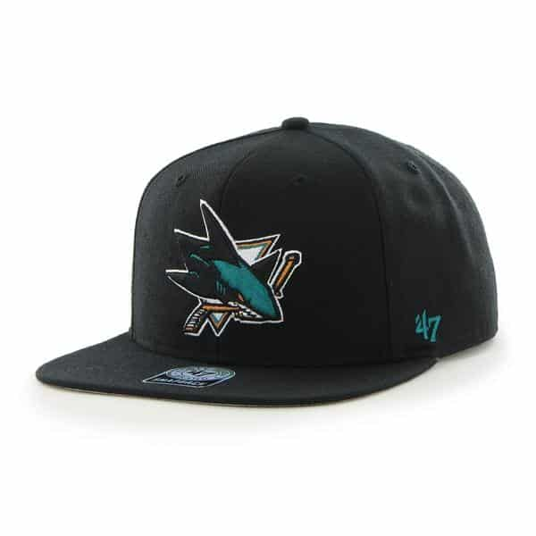 San Jose Sharks Sure Shot Black 47 Brand Adjustable Hat