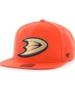 Anaheim Ducks Sure Shot Orange 47 Brand Adjustable Hat
