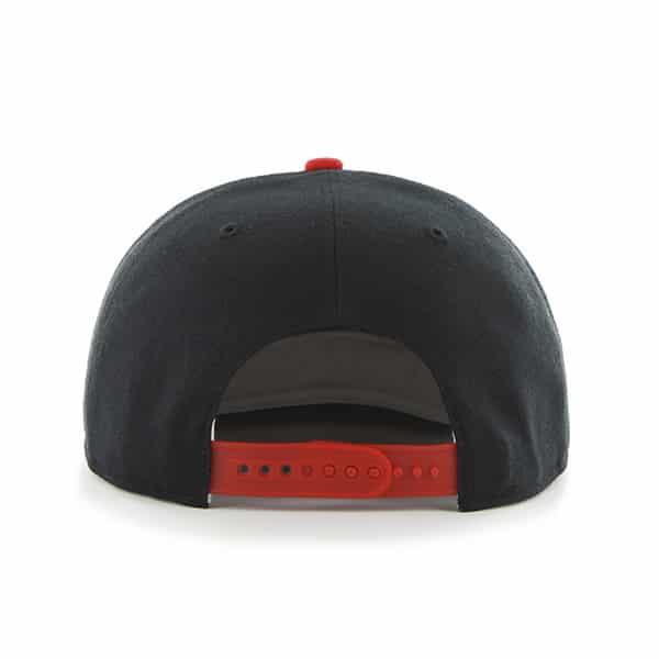 3f87b002af84c Chicago Blackhawks Sure Shot Two Tone Captain Black 47 Brand Adjustable Hat.  Chicago Blackhawks ...